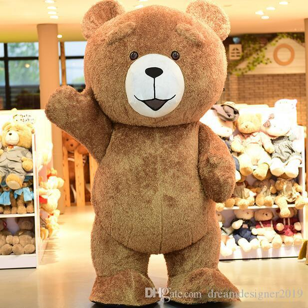 High Quality Big Fat Teddy Bear Cartoon Mascot Costume Toy Shop Promotion Suit Halloween Party Fancy Dress Free Shipping