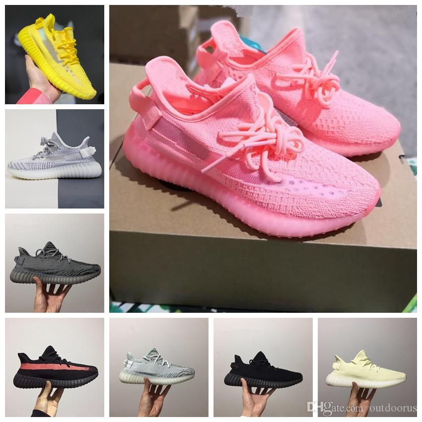 ADIDAS 2019 Kanye West Gerçek Formu Kil Statik Yeşil Tonu Beluga 2.0 Zebra Krem Koşu Ayakkabıları Erkek Kadın Tasarımcı Sneakers