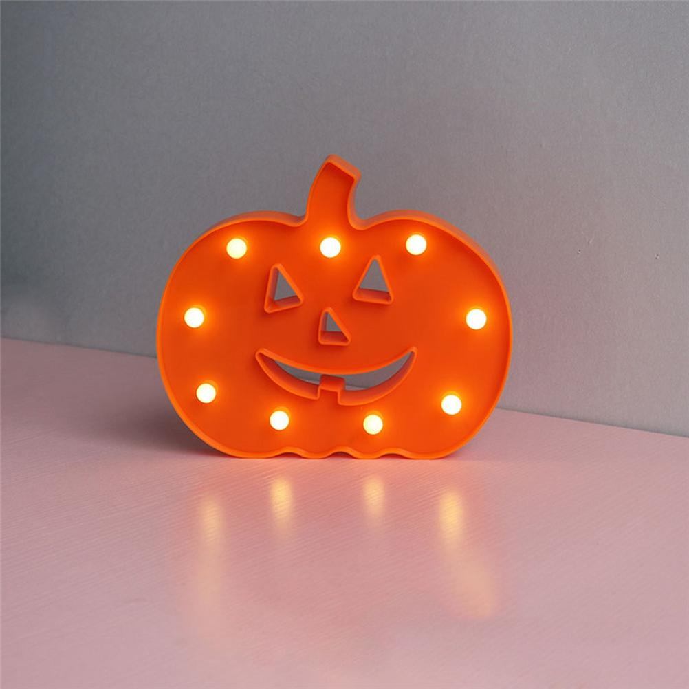 1pcs Night Light décoratif Forme citrouille LED électronique tenture Night Lights pour Halloween Party Bar Home Decor