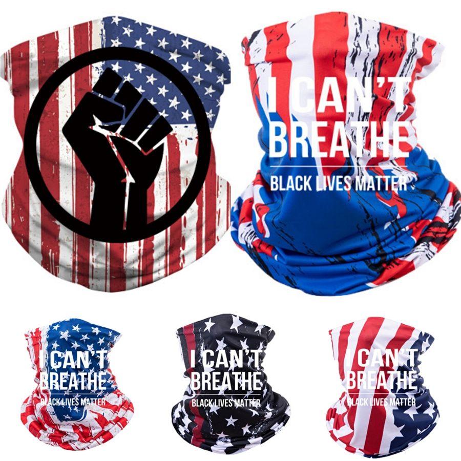 I Cant Breathe! Nouveau Arrivée signe Mode Bandanas paix Happy Face Bandana Cotton Head Wrap Echarpes Poignet # 70354