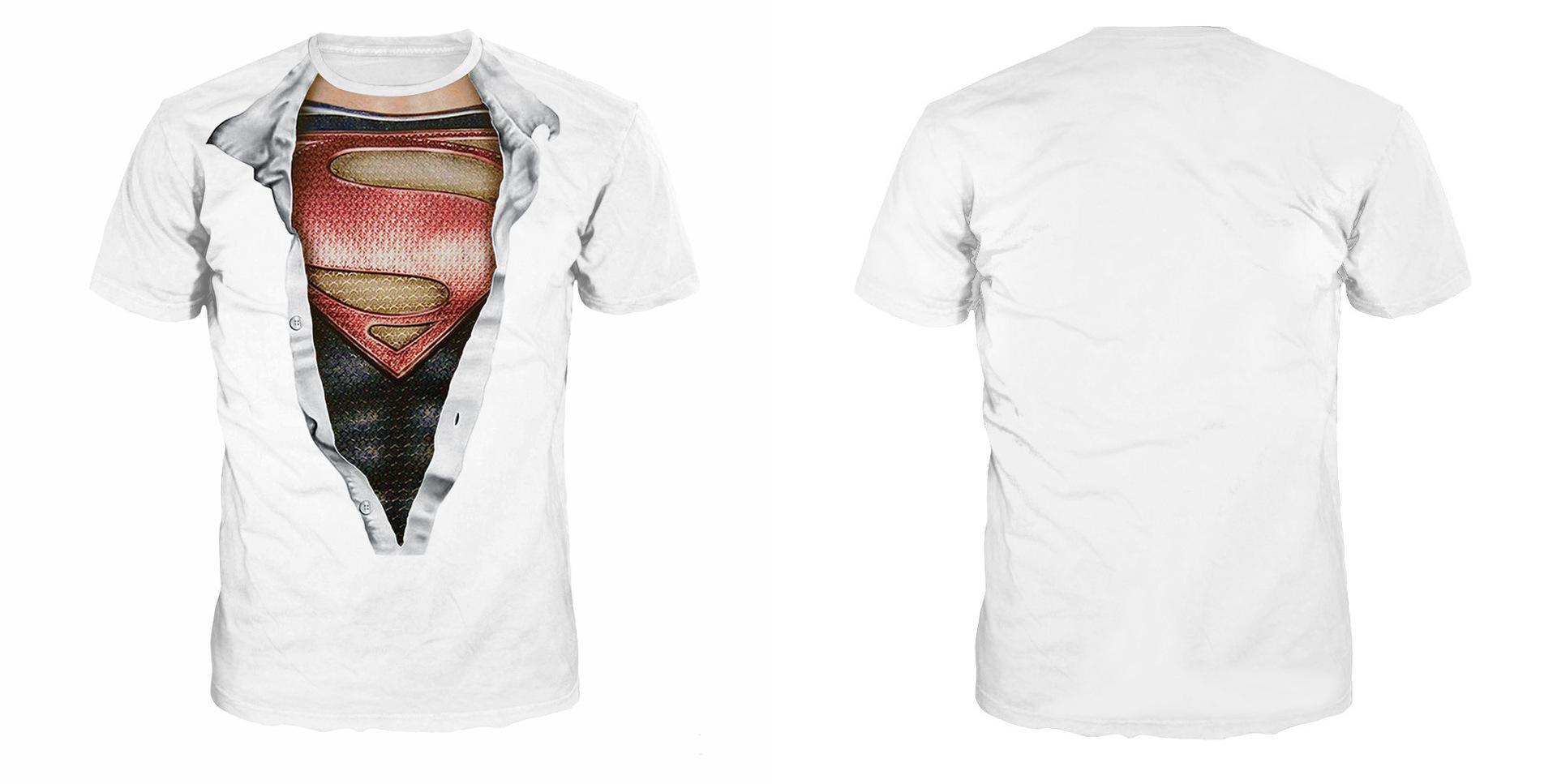 Disfraz de Halloween Mujeres Camisetas con estampado 3d Camisetas con estampado de superhéroe para hombre Blanco de manga corta Unisex Ropa sorpresa única S-3XL