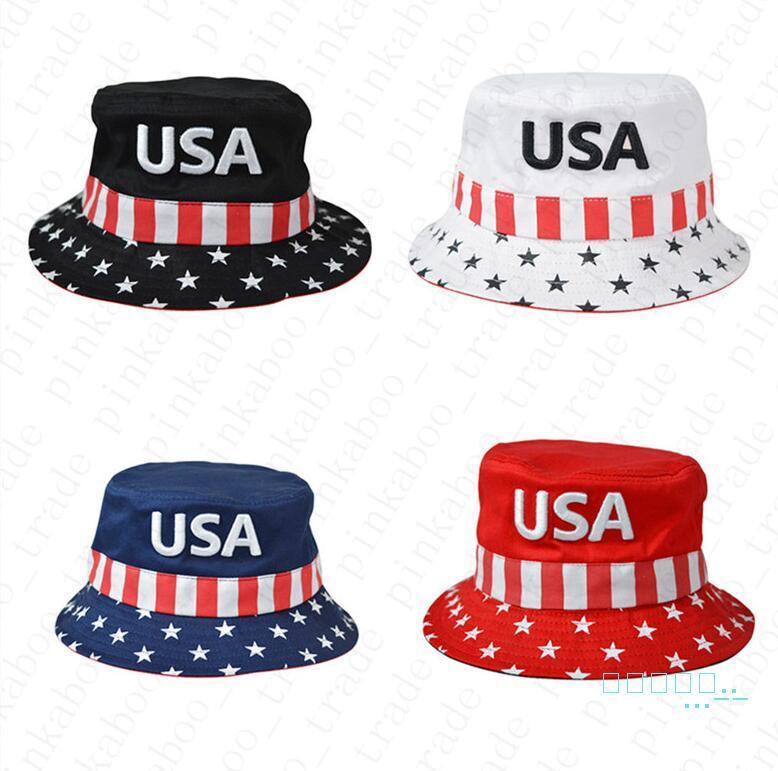 Donald Trump broderie lettres USA Bucket Chapeaux Visor Caps Coton Pêche Chasse chapeaux de soleil font de l'Amérique grand président élection Cap D42204