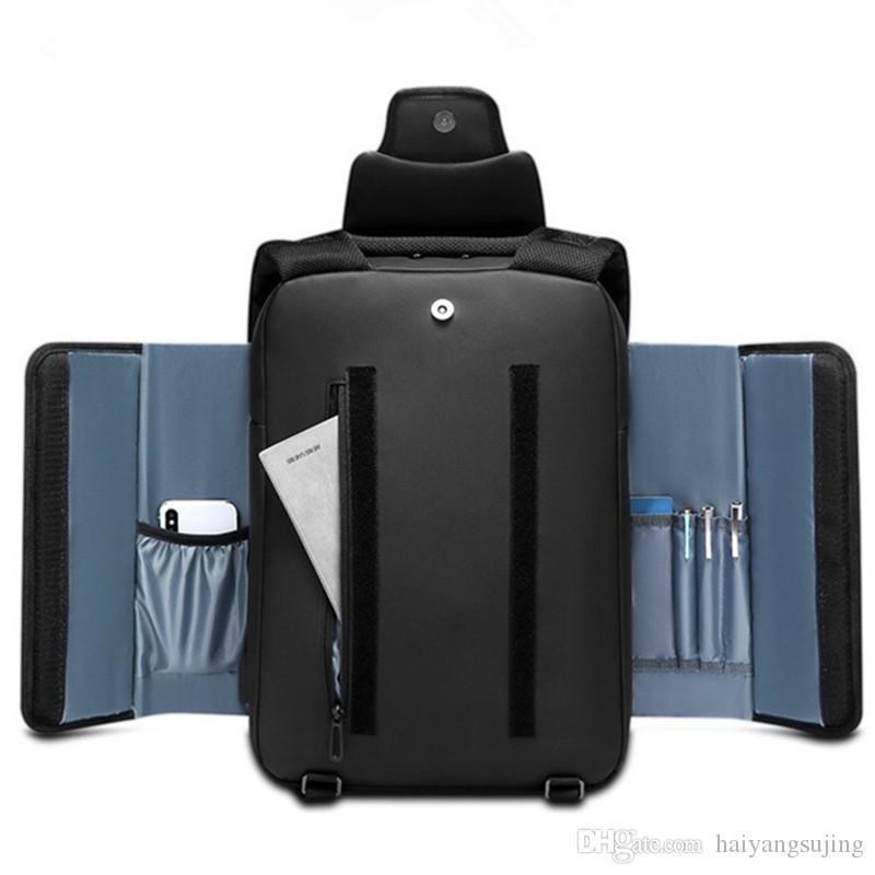 15,6 дюймовый ноутбук рюкзак Мужчины Мужской рюкзак Ноутбук Mochila Водонепроницаемая Back Pack USB зарядный путешествия Bagpack Tablet ранцы