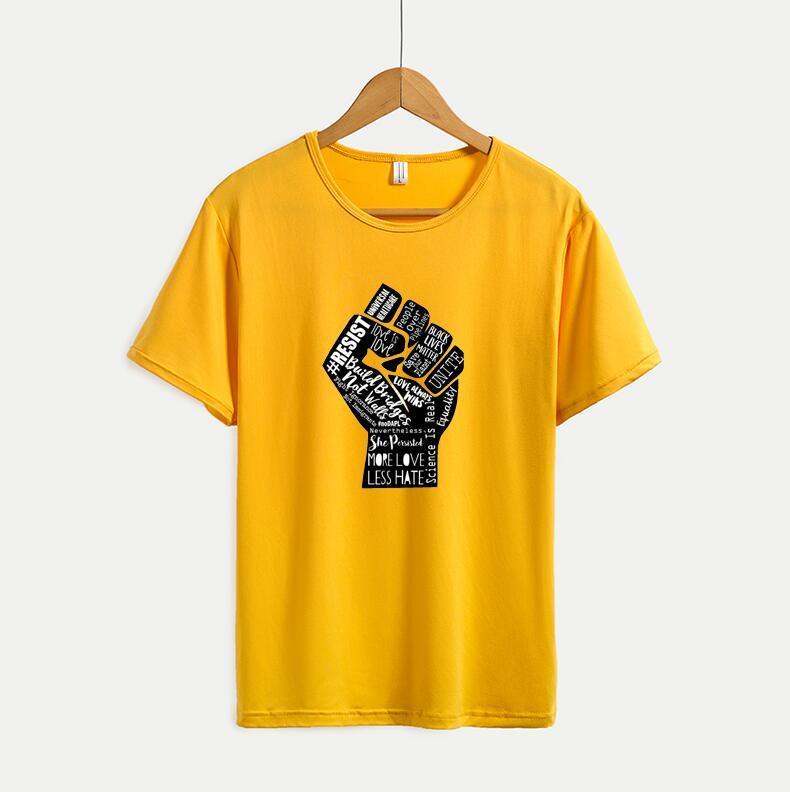 Lettere Printted Mens delle magliette delle donne casuali di nuovo modo delle magliette di estate a maniche corte Mens Tee Top di alta qualità