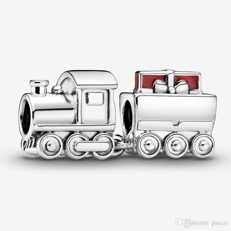 SILVER PLATED TRAIN BEAD EUROPEAN CHARM BRACELETS