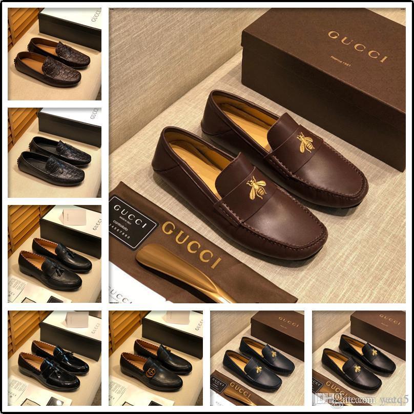 21SF BRAND MEN couro genuíno SHOES Business Casual Tamanho Grande Moda Confortável Luxo MEN Flat Shoes Itália Escritório LOAFERS YEYE5