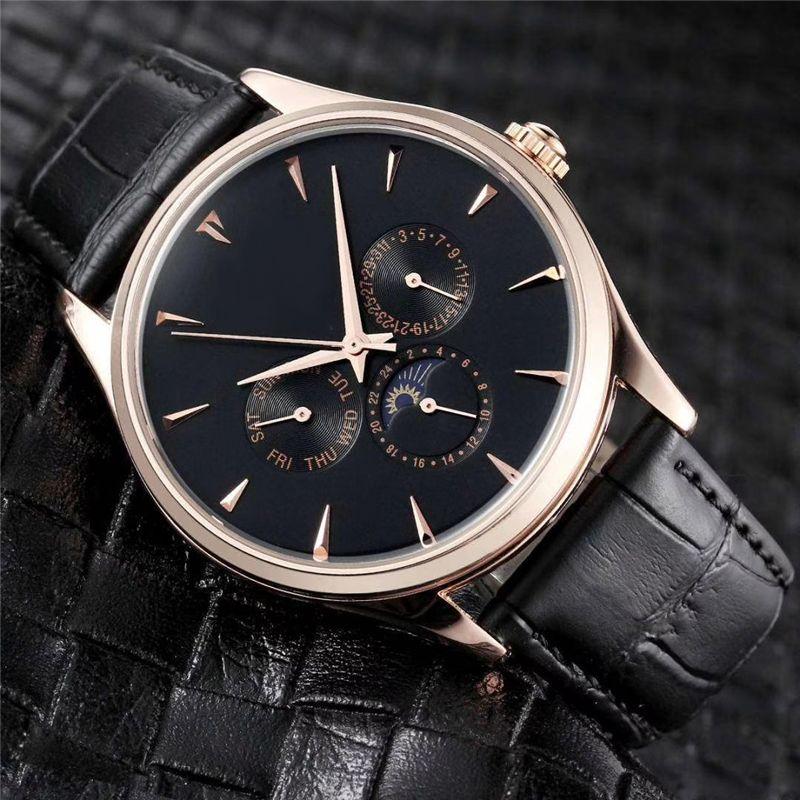 Designer relógios LG Mens de luxo relógios de quartzo relógios para homens de couro de jacaré Correia de pulso No Box LG6 UH1 20020303P