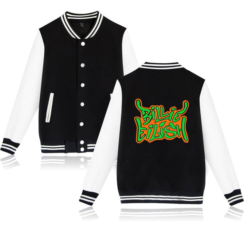 Hip Hop Billie Eilish Ceket Kazak Casual Erkekler Kadınlar Kapşonlu Kazak Uzun Kollu Sport Top Kumaş Unisex Harajuku Coat Erkekler