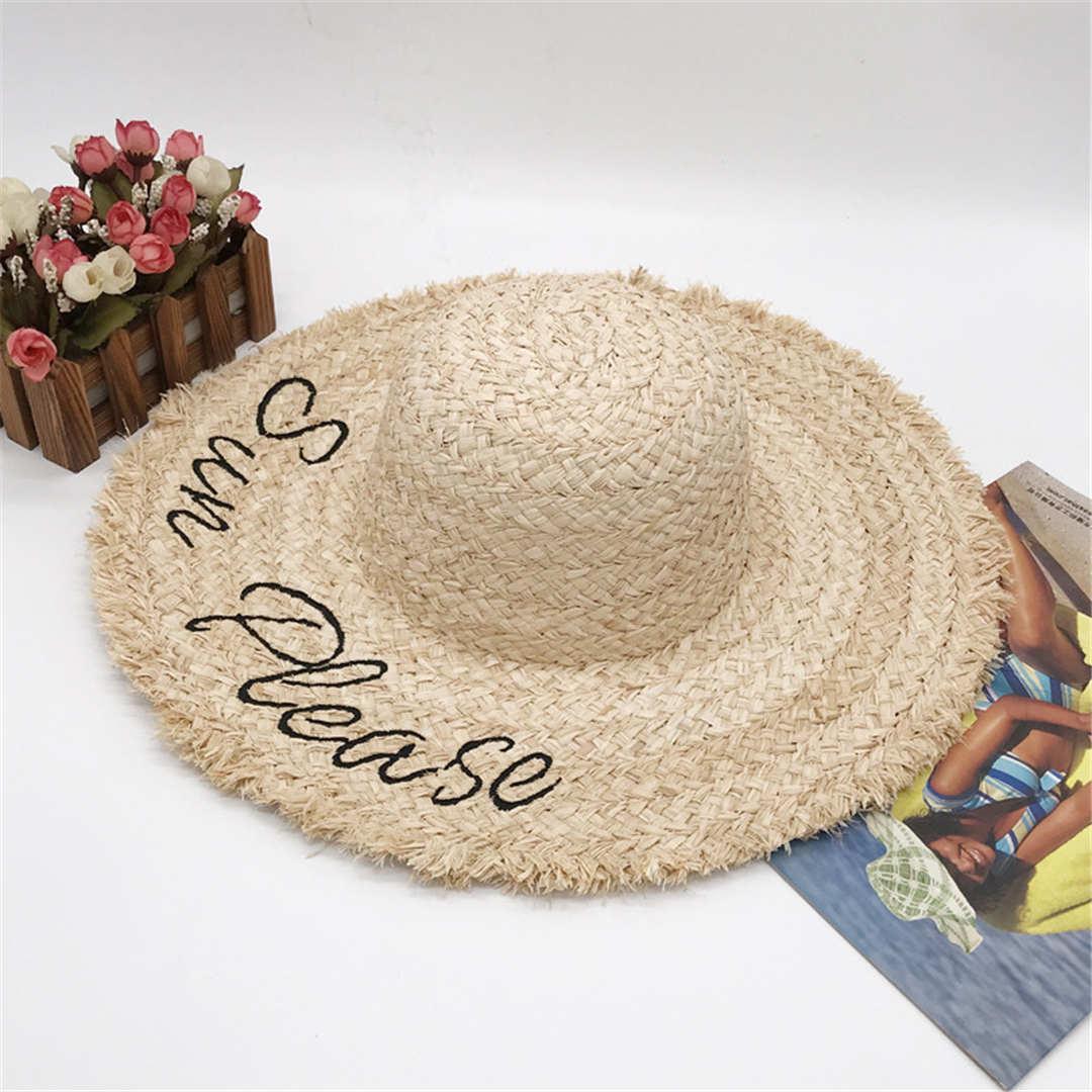 الصيف مصمم شاطئ كاب 20ss الأزياء القبعات قبعة قبعة للمرأة قابل للتعديل م إلكتروني قبعات إمرأة القش القبعات نوعية ممتازة