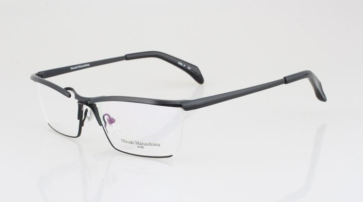 ماركة نظارات-نقي التيتانيوم ماساكي ماتسوشيما نظارات إطارات الرجال الفاخرة النظارات إطارات تصاميم كبيرة النظارات البصرية إطارات MF-1159