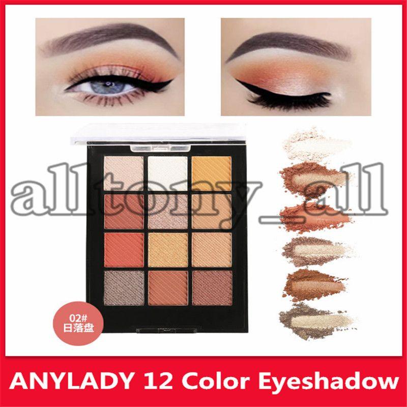 New Hot anylady oeil fard à paupières de maquillage de 3 modèles en fard à paupières paillettes scintillent de haute qualité