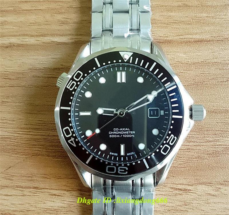 Relógio de luxo de prata movimento automático caixa de aço inoxidável conforto cinta de aço inoxidável original fivela relógio dos homens