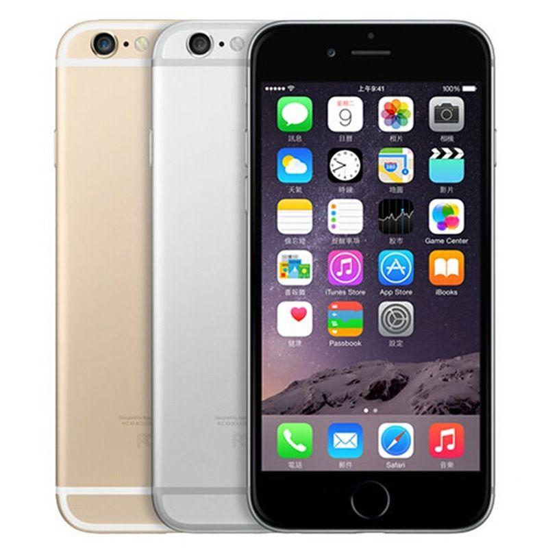 تم تجديده الأصلي ابل اي فون 6 مع بصمة 4.7 بوصة a8 شرائح 1 جيجابايت رام 16/64/128 جيجابايت rom ios 8.0mp مقفلة lte 4 جرام الهاتف الذكي مجانا dhl 5pcs