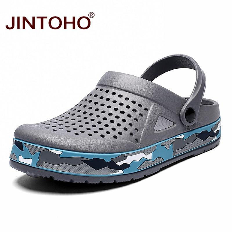 Sapatos JINTOHO Cheap Men Verão respirável Homens sandálias de praia Shoes Leve Masculino sandálias