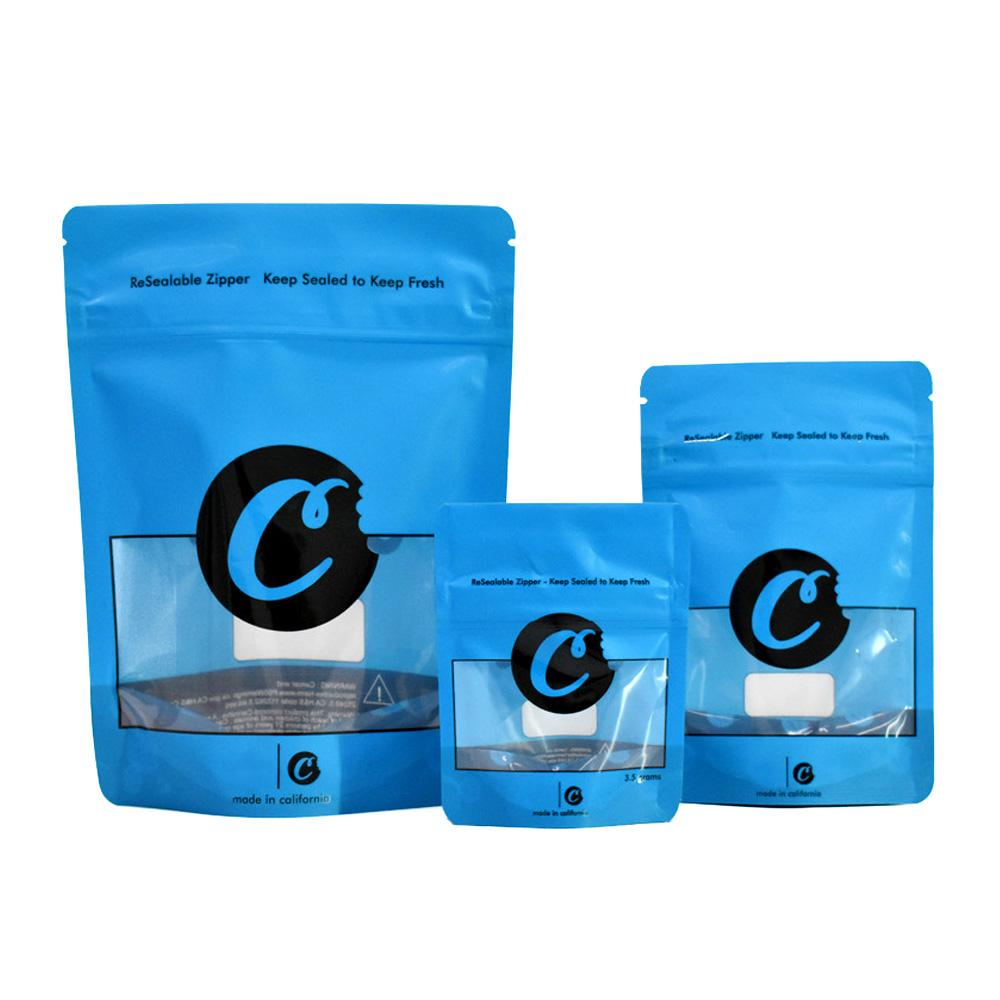 Mavi Kurabiye Mylar Çanta 420 Ambalaj Mylar Çanta Plastik Torba Kaliforniya Çerezler SF 8th 3.5g Ambalaj Koku Geçirmez Çocuk Yalıtım Fermuar Çanta