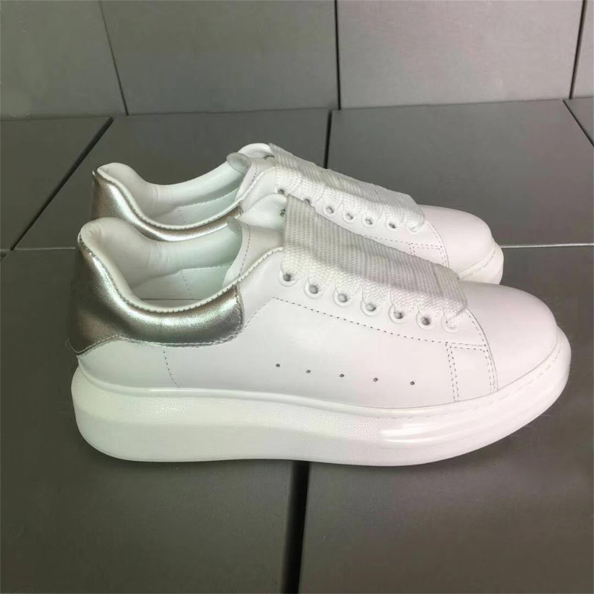 Venda quente-Qualidade de Moda de Luxo Designer de Mulheres Sapatos Casuais de Couro Real Com Serials Número Tênis Chaussures Sports Trainers 36-46