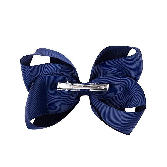 Girls Handmade Autism Awareness Hair Bow Clip