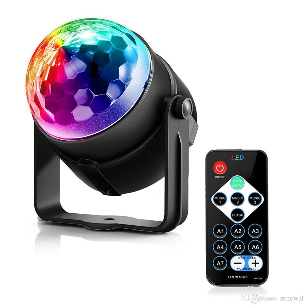 DHL Lightme Urlaubslicht 3 Steuermodi RGB LED Partyeffekt Disco Ball Light Bühne Beleuchtung Professionelle Weihnachten Hochzeitslampe