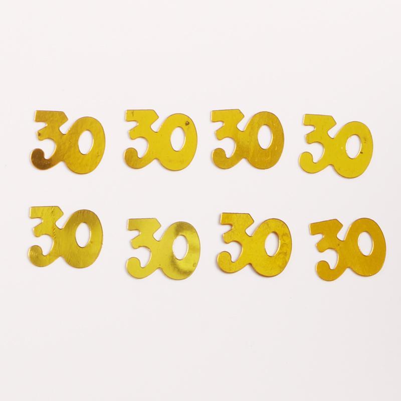 Confetti Birthday Party 30g aniversário Número feliz Jogando Sequins Partido Confetti Preto Prata Multicolor Digital Decoratio