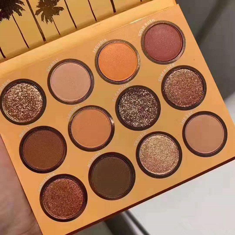 Dropshipping california amor paleta 12 cores maquiagem conjunto laranja abóbora cor paleta de sombra nova chegando