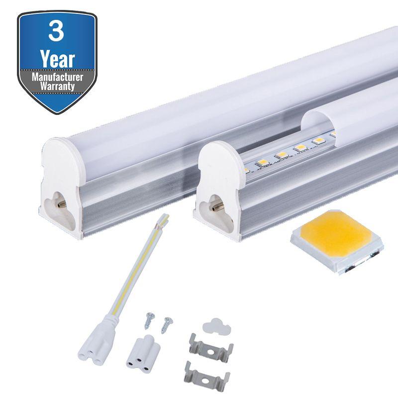 LED T5 Integrated Single Fixture, Linkable Utility Shop Light, Garage Light, T5 t8 Fluorescent Tube Light Fixture Replacement