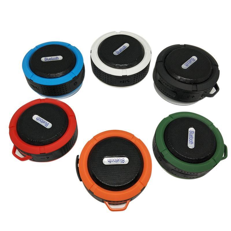 Kanca Ve Emme Stereo Su geçirmez Ev Sinema Kapalı Açık iOS Android Telefon ile C6 Hoparlör Mini Bluetooth Taşınabilir Audio Player