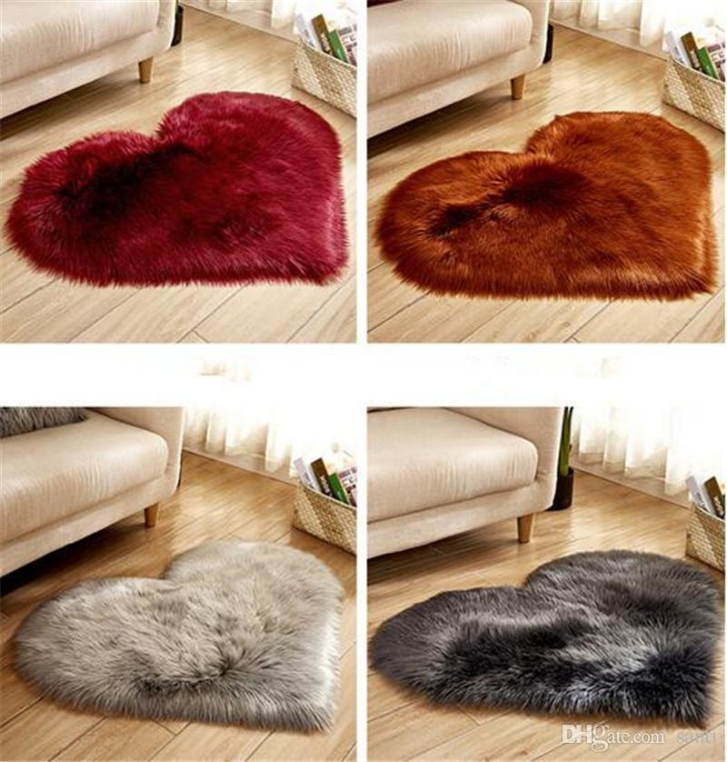 Hot Home Textiles Shaggy Carpet Living Room Home Tapis moelleux au sol en peluche Tapis moelleux pour enfants Tapis en fausse fourrure Tapis moelleux