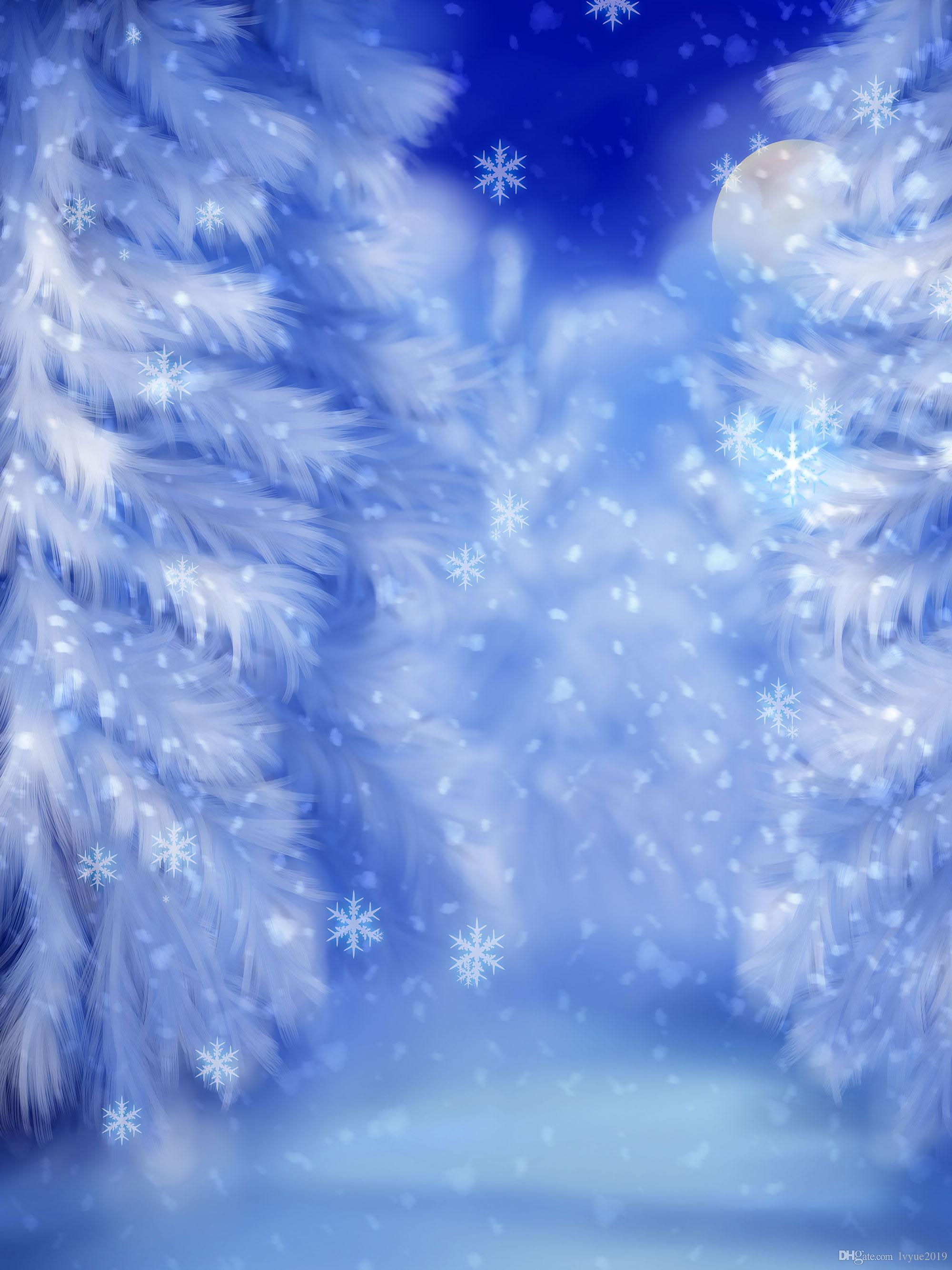 Nuit d'hiver Neige Paysage SAPINS Vinyle Photographie Backdrops Seamless bébé nouveau-né photo Fonds Booth pour Joyeux Noël Stud