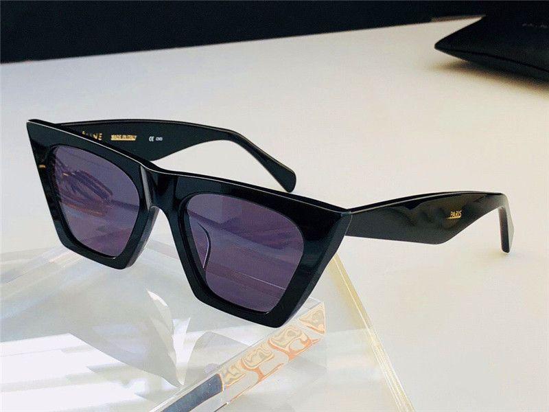 أزياء الجملة تصميم النظارات الشمسية 41468 القط صغير العين إطار العين بسيطة السخية uv400 حماية النظارات أعلى جودة مع القضية