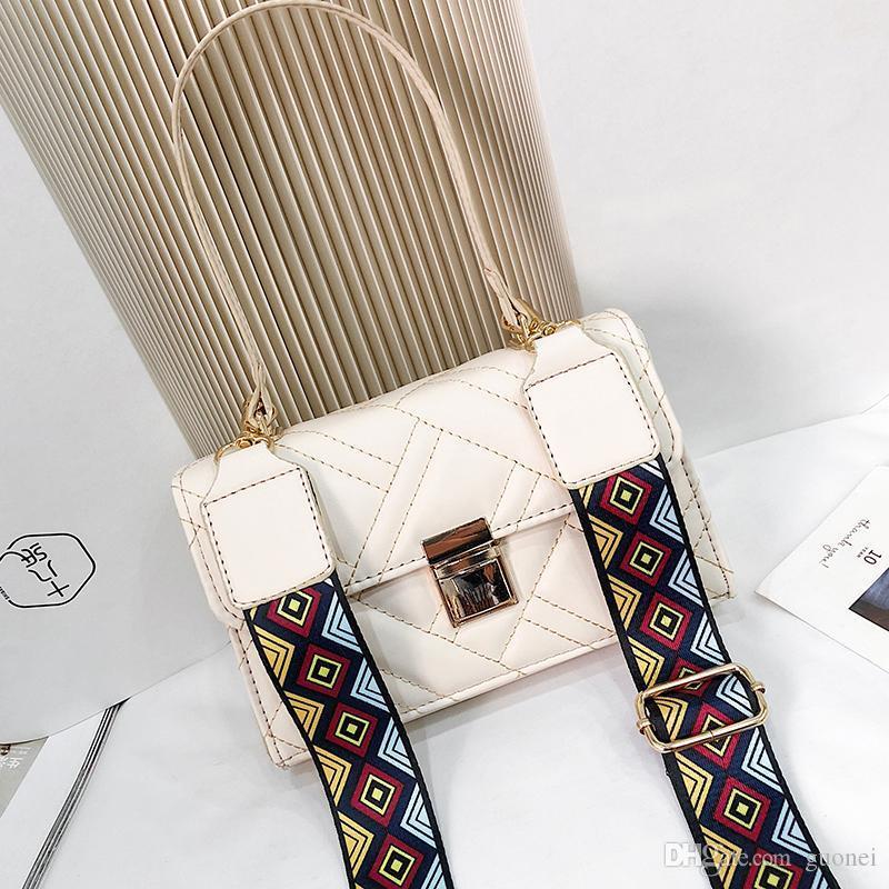 Handbags Fashion Bags Lady Designer-New Bag Shoulder Designer Handbag Messenger Strap Women Small Flap Wide Baoxiansheng/1 Skdqm