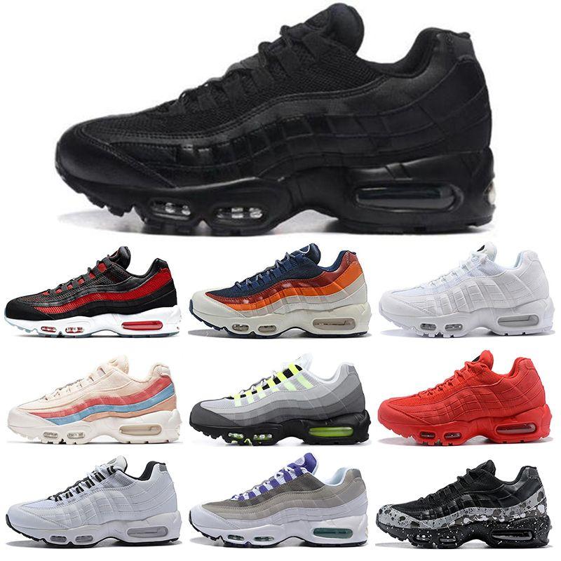 nike air max 95 Mens Womens Koşu Ayakkabı Ne OG Üzüm Neon TT Üçlü Siyah Beyaz Kırmızı Erkek Eğitmenler Üçlü Beyaz Spor Sneakers boyutu 36-45