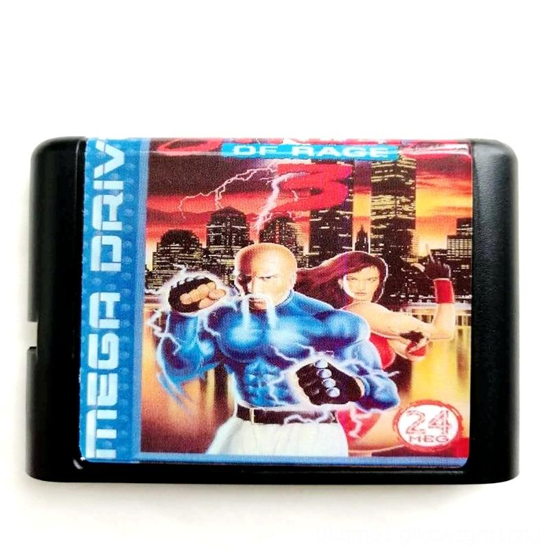 Streets Of Rage 3 16 bit MD Memory Card for Memory Cards & Hard Drivers Game Accessories Sega Mega Drive 2 for SEGA Genesis Megadrive