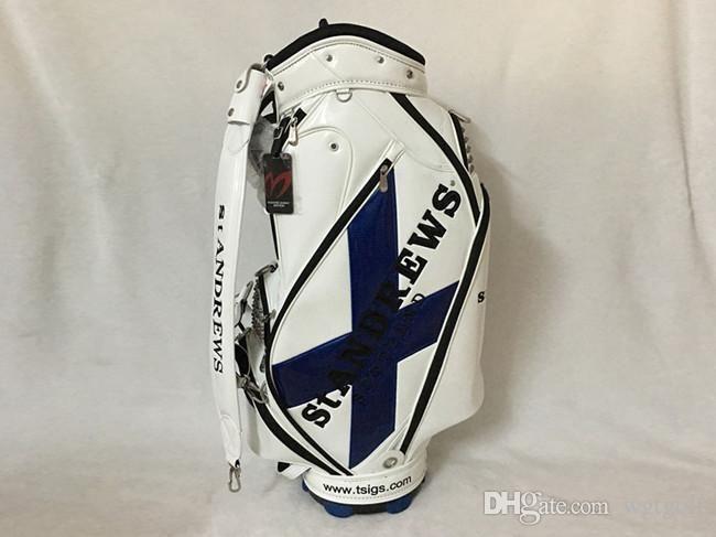 Estrenar puertas del cielo de St. Andrews Escocia bolsa de golf negro nacarado de las puertas estándar palos de golf bolsa Envío libre del ccsme