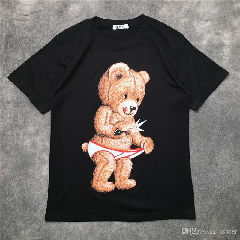 Hop Uomo Donna T Shirt 20ss Mens T Shirt Hip stampata orso manica corta Streetwear formato S-XXL
