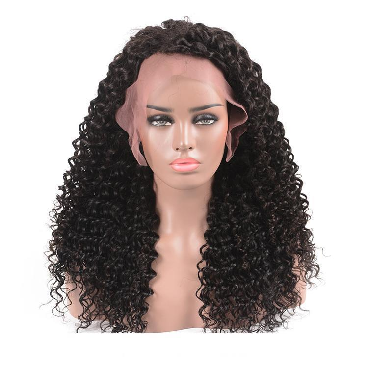 250% плотность бразильских человеческих волос 360 кружева фронтальные парики глубокая волна вьющиеся предварительно сорвал бесклеевой парик фронта шнурка для женщин бесплатная часть 18inc