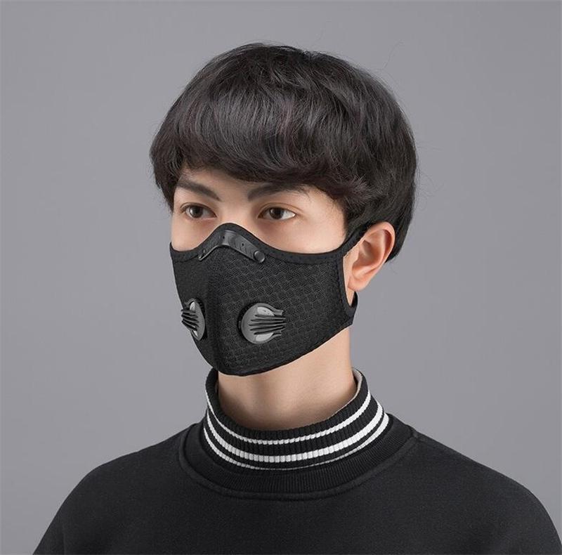 Masque réutilisable en gros 100 1PCS adulte 5 couches Masque Valve # QA737