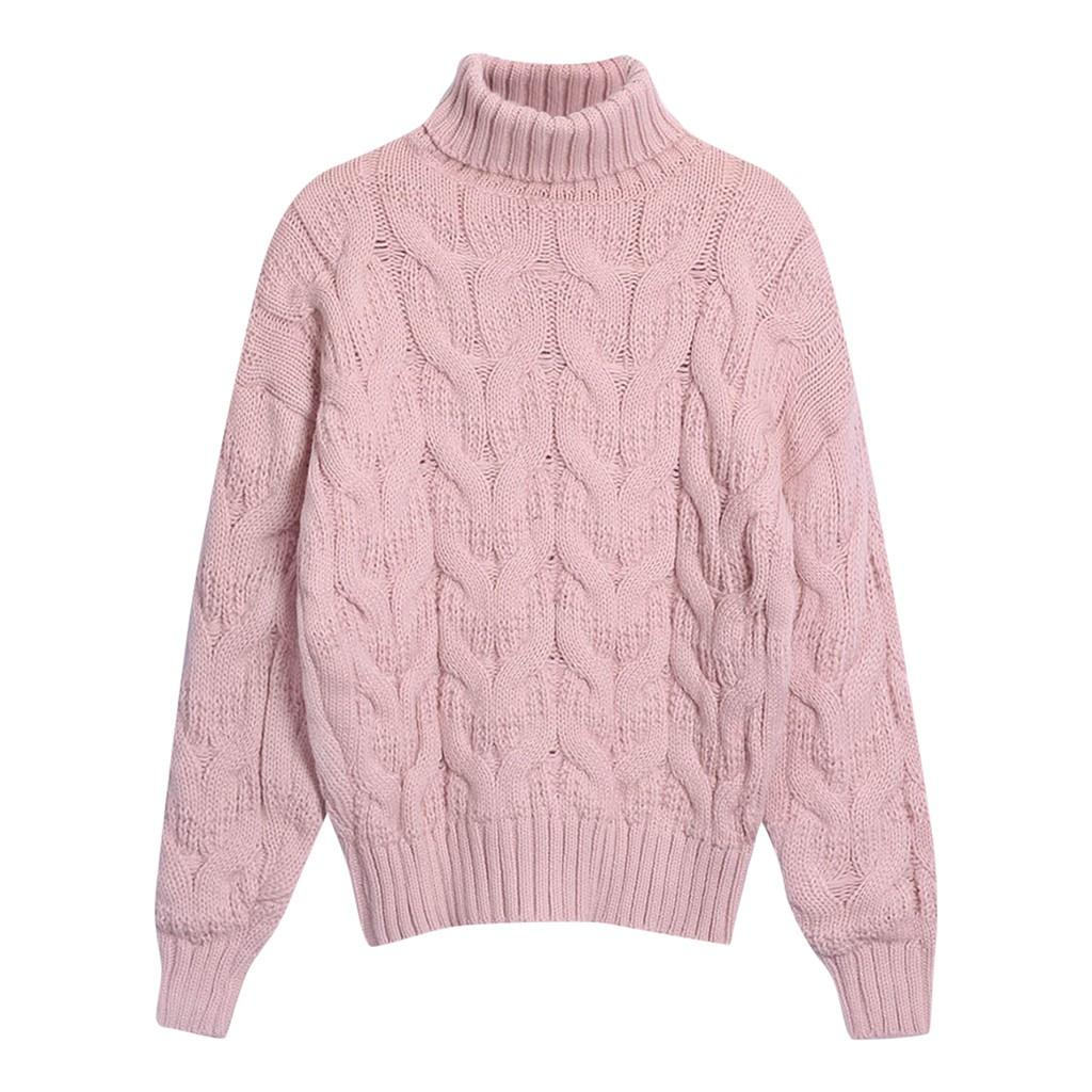 Womail Women Winter Sweater 2019 Women's Fashion Long Sleeve Knitted Sweaters Wrap Pullover Autumn Sweater Female