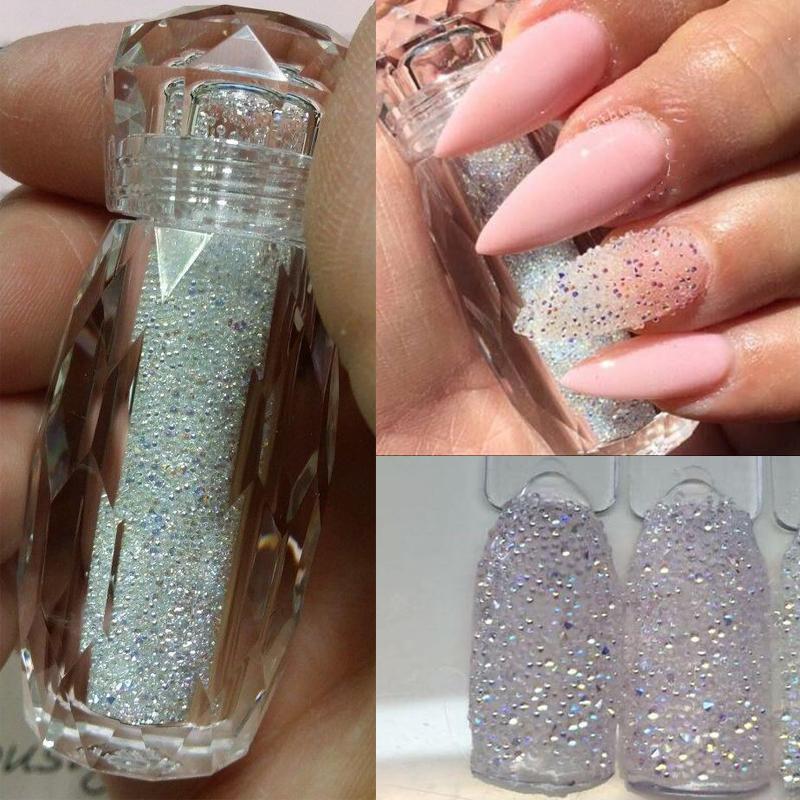 10style 0.6-1.2mm Cristal Nail Art Micro Zircon prego Caviar Zircon Micro Beads art strass brilho DIY Cristal Gems