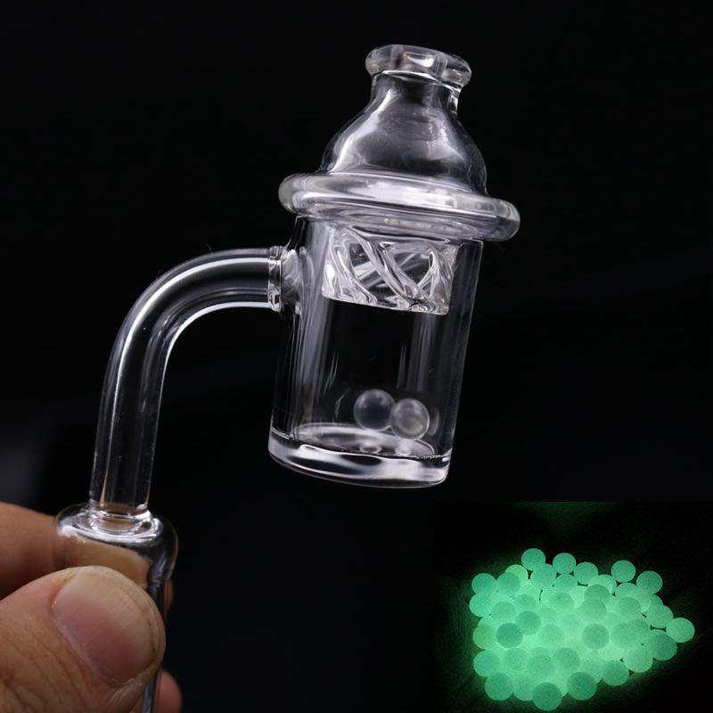 Neue Quarz Banger Nagel mit Spinning Carb Kappe und Terp Perle Weiblich Männlich 10mm 14mm 18mm Joint 90 Grad Für Glas Bongs 1 stücke