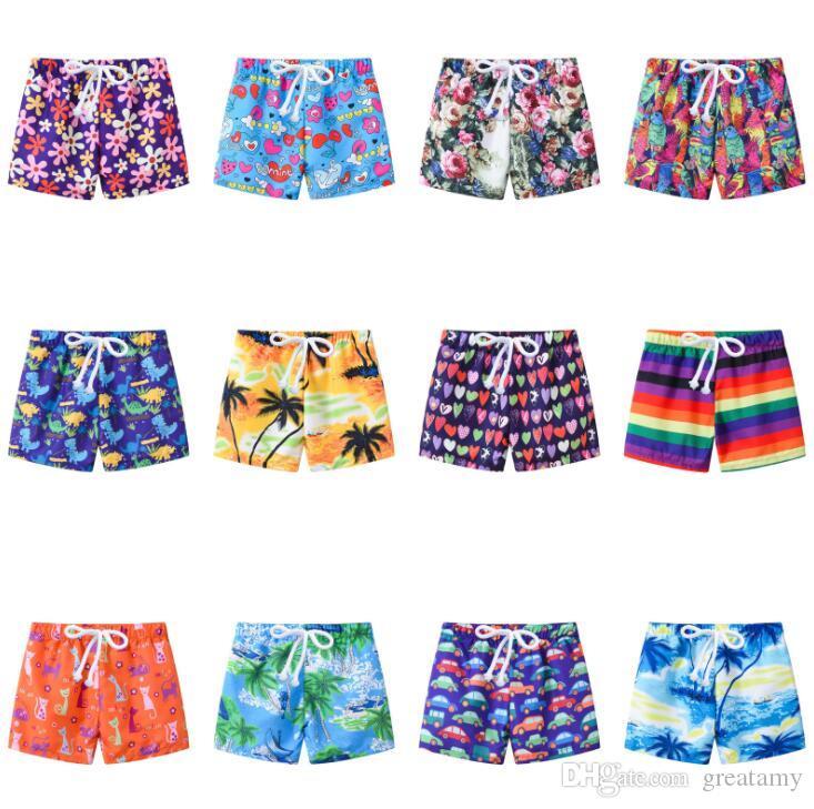 13 styles Children summer print shorts kids baby girl cartoon striped car pattern beach pants children clothes boutique