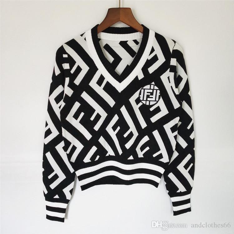 2020 Designer Luxus Frauen -neck Knopf Langarm-Cardigan sweaterWomen Dame Pullover Aufmaß Luxus Womans Kleidung Frauen Jumper