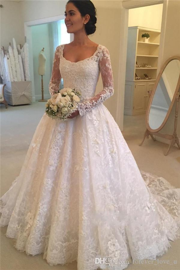 Discount European Style Scoop Neck Lace Bridal