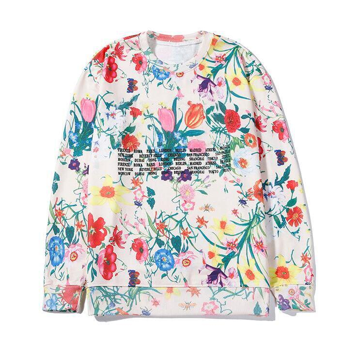 Autumn Brand Hoodies Sweatshirts For Mens Hoodie With Floral Printting Winter Luxury Designer Streetwear Jogger Tops Clothing High Quality
