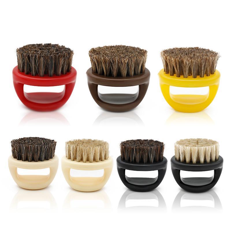 Homens Mustache Beard escova Pig Cavalo Cerdas Elastic Breve umectante secagem rápida Durable varredura Hair Salon Escova 07