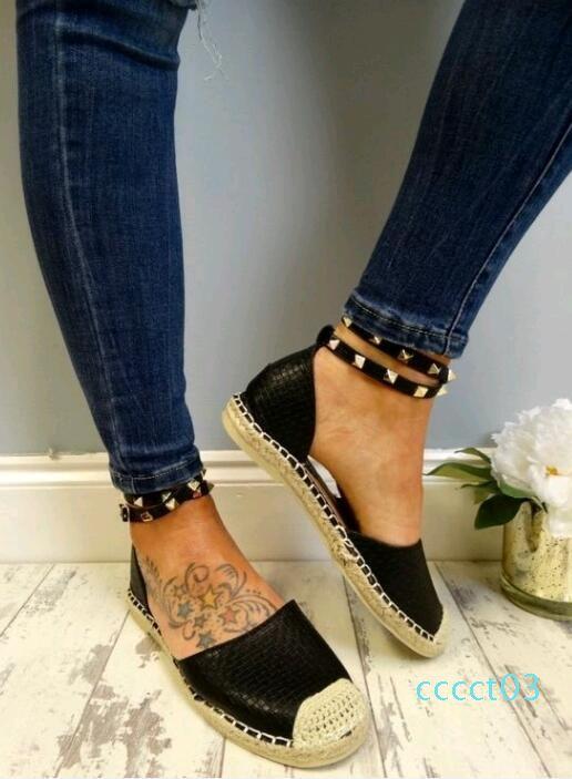 NOUVEAU Sandales d'été Chaussures confortables Faux plates en daim ComfortableSize 35-43 Chaussures Casual Chaussures Mujer Taille 35-43 YP-87 CT3