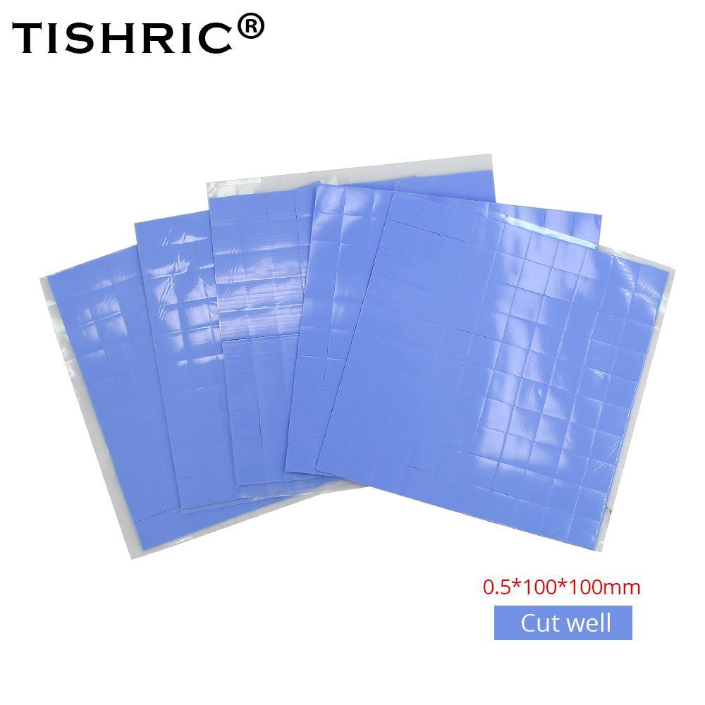 같습 사무실 TISHRIC 100 * 100 * 0.5mm의 열 패드 전도성 실리콘 PC 팬 쿨러 GPU CPU 히트 싱크 방열판 써멀 그리스 / adhE 유전자가 결실을 붙여 넣기 ...