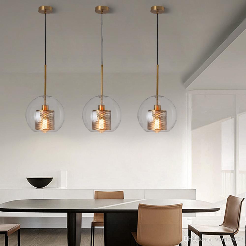 الحديثة الرجعية الزجاج قلادة ضوء مطعم قلادة مصباح شنقا الحبل ضوء مصمم الإبداعي شخصية مصباح الدرج