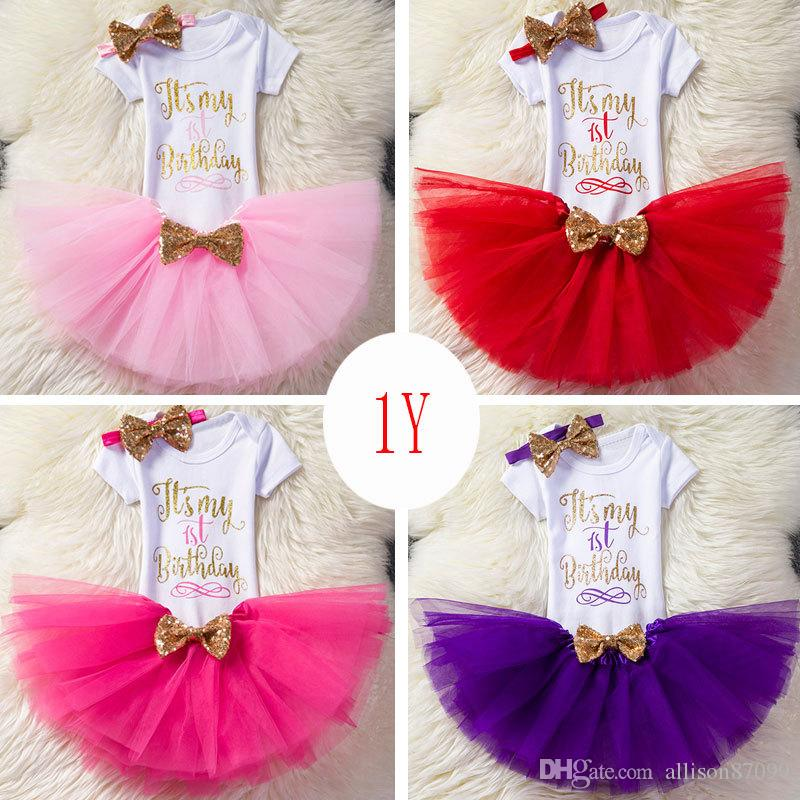 Baby Girls Lovely Pink unicorn /& ribbon Tutu Skirt Velvet Romper
