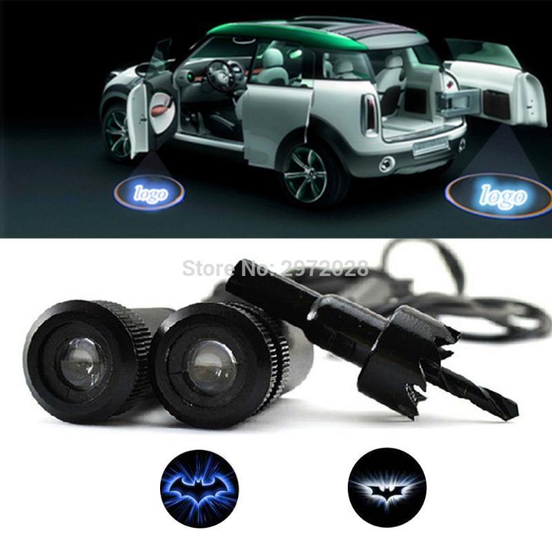 2 x Car Door Ground Projection 5w Car LED Laser Lights Door Welcome Ghost Shadow Projector Lights For Bat Series