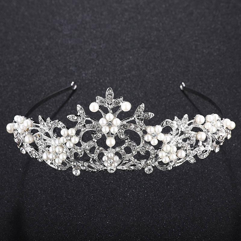 Hochzeit Braut Haarschmuck glänzenden Strass-Stirnband, Gold, Silber-Stirnband Frauen Tiaras Hochzeit Schmuck Accessoires XH